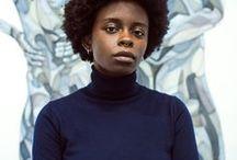 Toyin ojih Odutola / Toyin ojih Odutola I  *1985 in Nigeria I African American Artist I Self Portraits