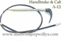 Willys Jeep Emergency Brake Parts 1946-71 (Transfer Case Mounted) / Willys Jeep Emergency Brake Parts with Transfer Case Mounted Systems. Brake Shoe Sets, Brake Cables, Emergency Brake Drum and Spring Hardware.