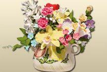 Flori si decoruri speciale pentru tort / Aceste produse au fost realizate din zahar, pe care le puteti achizitiona de pe site-ul nostru.  www.lumeabasmelor.ro