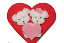 Figurine Valentines din zahar / Aceste figurine sunt realizate din martipan, sau zahar. Special creat pentru ziua indragostitiilor.