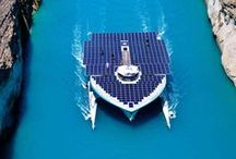 PlanetSolar across the Korinthos Canal / Next stop Eretria on the 28th July 2014 !