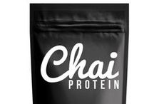 "Chai Protein Products / ""Tastes just like a Chai Latte!"" www.chaiprotein.com.au"