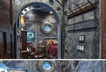 Bedroom/Bathroom Ideas / Wouldn't a 20,000 Leagues Under the Sea theme be cool for a bedroom, or at least a bathroom?