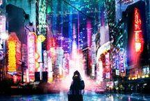 Futuristic and Cyberpunk