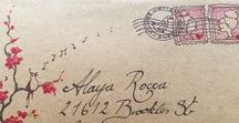 Snail Mail / Beautiful letters, the real kind, on paper! Calligraphy Stamps