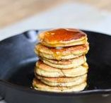 Pancakes in the pan.