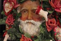 Victorian Santa and other christmas art / My artwork