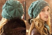 Crochet and knitting hats, berets - Вязаные шапки, береты / Crochet and knitting - Вязание крючком и спицами