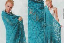 Crochet and knitting scarves, shawls, stoles - Вязаные шарфы, шали, палантины / Crochet and knitting - Вязание крючком и спицами