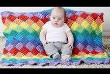 Entrelac - Энтерлак / Crochet and knitting - Вязание крючком и спицами