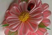 Flowers, jewelry of cloth and ribbons - Цветы, украшения из ткани и лент / Handmade Jewelry - Украшения ручной работы