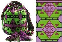 Mochila / WAYUU BAGS - Жаккардовые сумки крючком