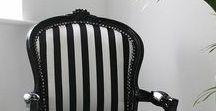 Colour Trend - Black & White Furniture / Black and White Furniture Ideas. Create your own furniture at www.hiddenmill.com