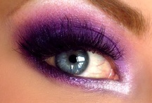 Makeup / Lovely eyeshadow, perfectly curved eyeliner, and long eyelashes! / by Fiona