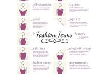 Fashion Terminology / We've plucked terminology that you can find all over the catwalks - season in, season out - to help you put your fashion reporter cap on the next time you watch a show. Learning about interesting new styling ideas and designers is what keeps the fashion wheel spinning, and making for fresh outfits and styles.
