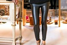 Outfit leggings in ecopelle nera