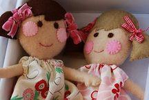 felt dolls / Bambole di feltro