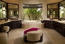 Bubbly bathrooms / This is a selection of bathroom designs and decorations that we like the look of