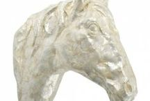 HORSE HEAD WALL HANGINGS / For all my friends out there who like horses!  Bring one indoors!