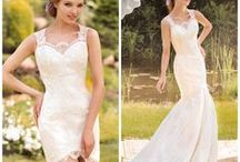 Wedding Dresses: Transformer / Transformer wedding dresses is a perfect opportunity to show off multiple looks in one gown! Transform your style with a removable train, jacket, or skirt. This type of wedding dress gives you a ceremony and a reception look in one!