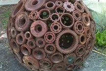 ART - yard art + scrap metal