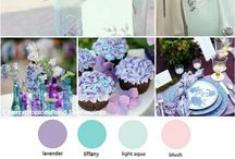 Wedding color ideas / Had blue, pink, lavender/lilac in mind