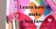 Bag Making Books and Tutorials / great bag making books and lots of tutorials to teach you how to make a bag or improve your bag making skills