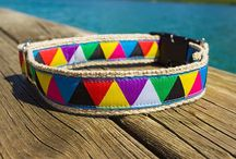 Dog collars and leashes / Handmade hemp dog gear