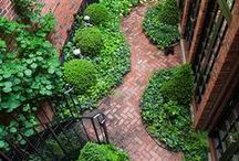 The Castle Courtyard. / There is a courtyard that has a red brick theme. Please pin to your hearts content.