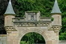 The Castle Entrance and Driveway. / Please pin to your hearts content.