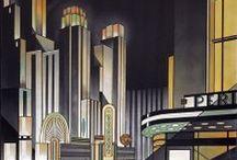 Deco-Decor / Decor things in an Art Deco/Retro Futurism/Steampunk style. Love it so much!