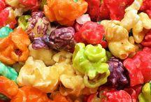 Popcorn pretzels snacks