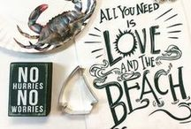 Coastal Kitchen / Seafood gadgets and decor for your beach house