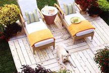 Big Decks n Hot tubs oh my! / Backyard makeover / by Lisa Smith