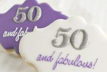 50th Birthday Party Themes! / Happy 50th birthday to all semi-centenarians! You've had 50 years to practice. Make this the best birthday ever and throw a: lobster or oyster fest, pig roast, poker party, 1960's Mad Men party, comedy roast, golf party, wine tasting, a fabulous at fifty girl's night, or a swanky dinner party. / by Birthday in a Box