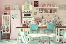 Inspiring Kitchens / Beautiful vintage kitchens and retro decor that inspire our own boutique