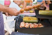 BBQ Party Ideas / Hail to the grill master for filling our bellies on hot summer days and balmy starlit nights! While the kabobs, burgers, hotdogs sizzle, you'll keep your cool with these bright ideas. Stock up on supplies at BirthdayInABox.com / by Birthday in a Box