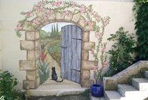 SECRET GARDEN MURAL / Ideas and inspiration for a secret garden mural