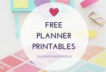 PLANNER PRINTABLES / Planner printables, mostly the FREE ones