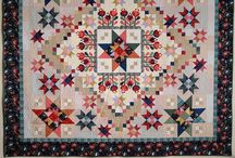 Color Love Block of the Month / Detailed photos of the Color Love BOM quilt by Nancy Rink