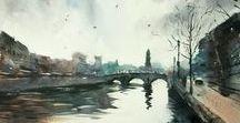 John DuVal watercolors