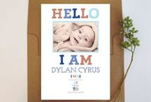 Birth Announcements / Create customized birth announcments for your bundle of joy starting from $0.70.  / by Oubly - Custom Printing