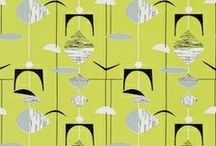 Sanderson 1950s Wallpaper Collection / This is a bold and iconic collection of wallpapers that celebrate a decade of design which transformed the boundaries of interior decoration. The Sanderson 50's collection combines original 1950's designs from the Sanderson archive with designs from contemporary artists who have taken great inspiration from this era.