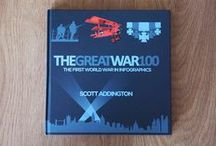 Our Work in Print / A collection of our work in print including 'The Great War 100' by Scott Addington and 'Visualising The Beatles' by our very own John Pring and Rob Thomas.