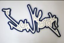 """Wall Decor """"Vandal"""" (CB) / Show your New York pride or give this as a gift to someone who loves the city! Unique wall decor piece to add character to any wall. Made in NY!"""