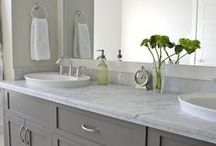 Bathrooms / Inspiration for bathrooms. Potentially Chic can help you redesign or makeover your dream bathroom.  Visit our website at http://www.potentiallychic.com/custom-home-services/ for more information.