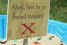 Pirate Party Ideas / Pirate Themed Foods, Pirate Themed Decor, and other ideas for a Pirate Party! ARG!