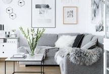 Home || Living Room / home, sofa, living room, home decor, decoration, cosy, gallery wall, fireplace, bright living room, grey living room, living room inspiration
