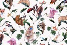 Badgers Of Bohemia Wallpaper / Wallpaper that rocks!! Quirky wallpaper