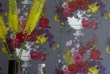 Clarke & Clarke Wallpaper - Floribunda  / Wallpaper / designer wallpaper / flower wallpaper